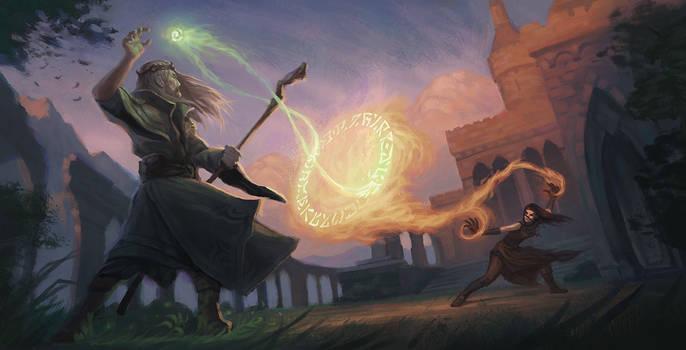 Mage Duel - Nature and Destruction