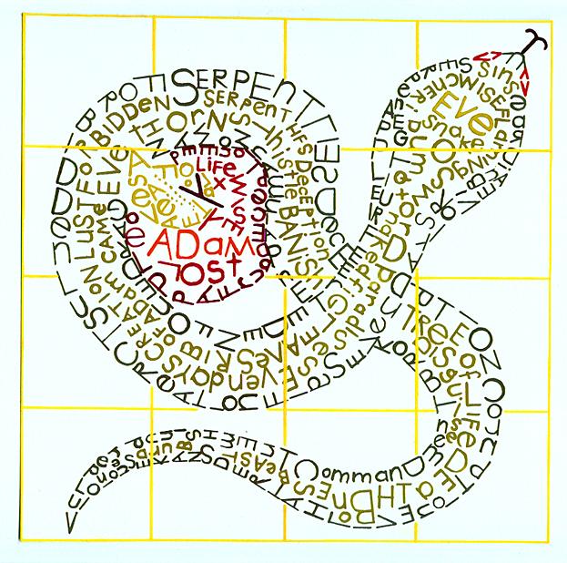 Typography Snake