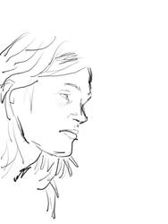 girl sketch by telecart