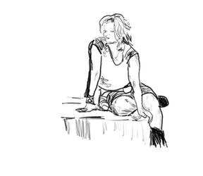 girl sketch 2 by telecart
