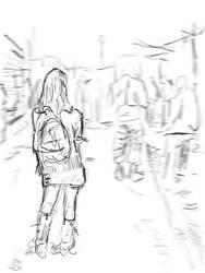 Girl Sketch 3 by telecart