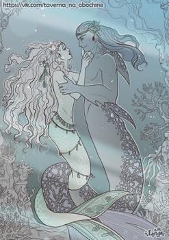 Wedding of mermaids