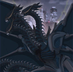 King Ghidorah Xenomorph by Arrancarfighter