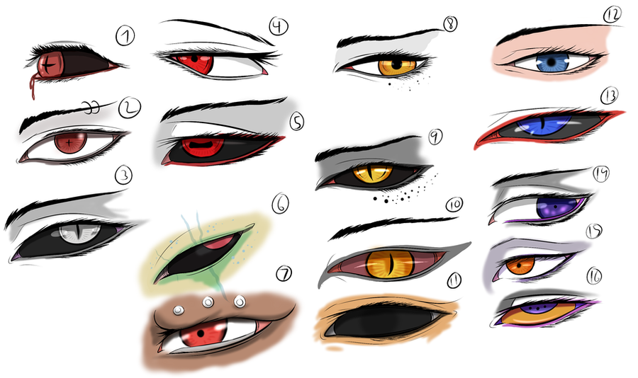 Character Eye Study Practice By Arrancarfighter