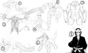 Sketch Dump 2014 by Arrancarfighter