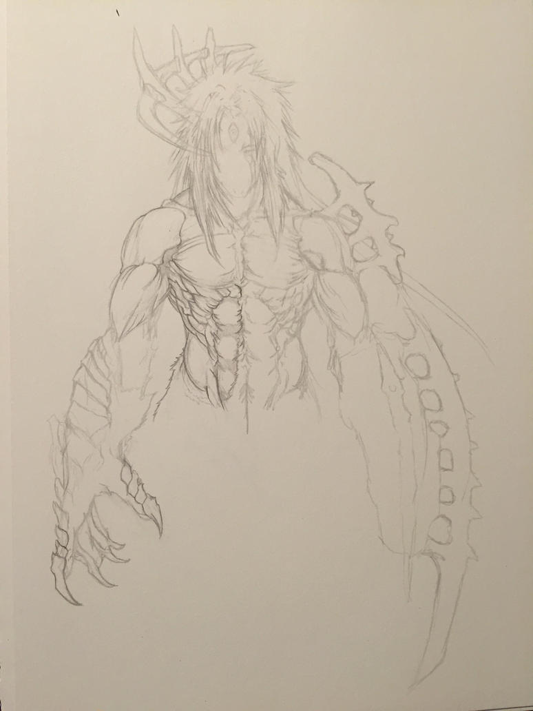cain hell form sketch by arrancarfighter on deviantart