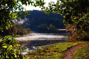 Morning river by kuzjka