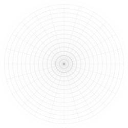 8x15-sectioned Complex Circular Grid - Printable
