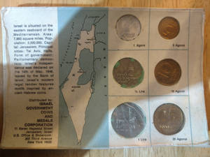 Coins of Israel - back view