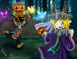 All together for Halloween by Lunabandid