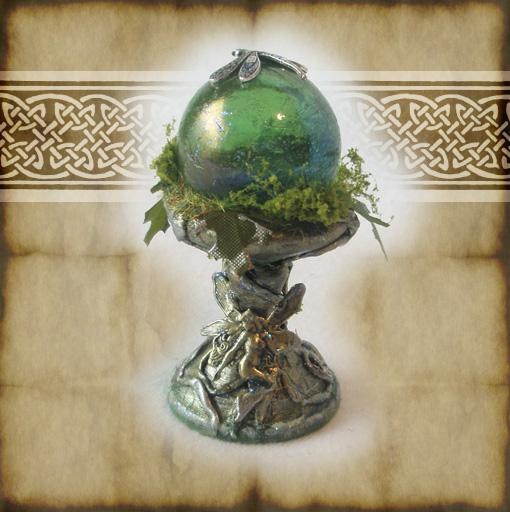 Green Fairy Crystal Ball by grimdeva