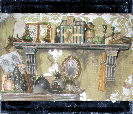 Mini Witch Library Shelf by grimdeva
