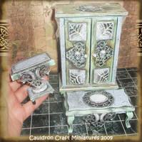 Glowing Spooky Dollhouse Set by grimdeva