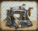 Steampunk Sewing Machine Mini