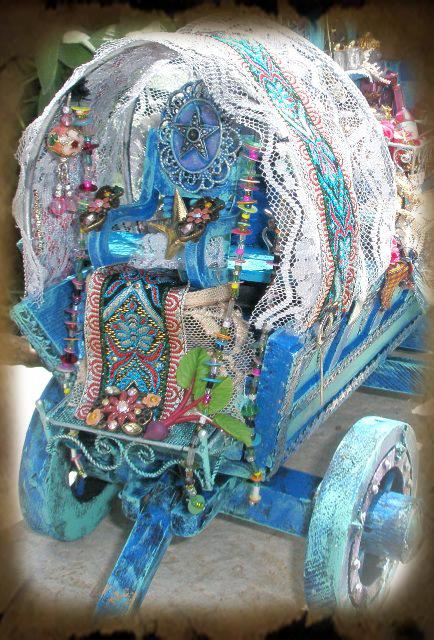 Miniature Gypsy Wagon by grimdeva
