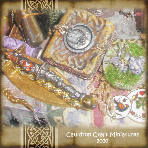 Miniature Wand n Spellbook by grimdeva