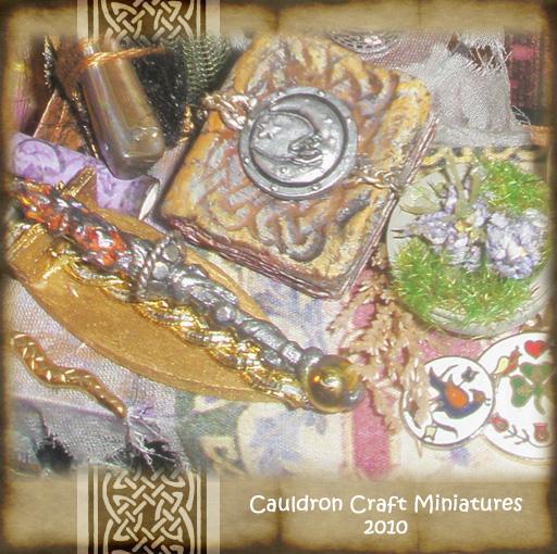 Miniature Wand n Spellbook by grimdeva