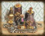 Mini Purple Potion Bottles