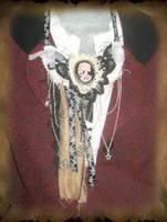 Steampunk Witch Necklace by grimdeva