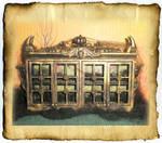 Mini Victorian Gothic Bookcase