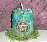 Spirit Pentacle Candle