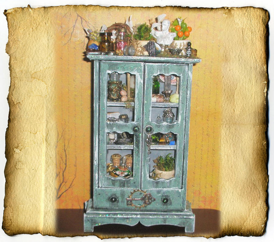 Steampunk Botanical Cabinet by grimdeva