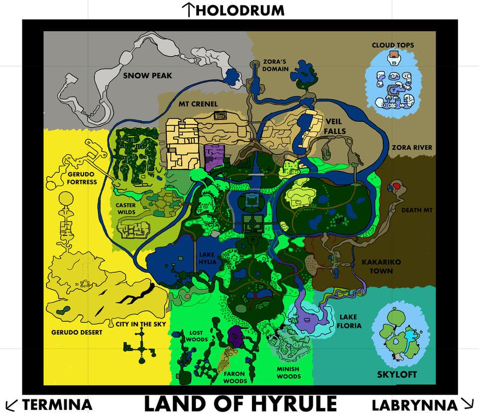 Legend of Zelda - Land of Hyrule Full Map by W-teck on