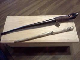 Blasting rod and dark moon wand