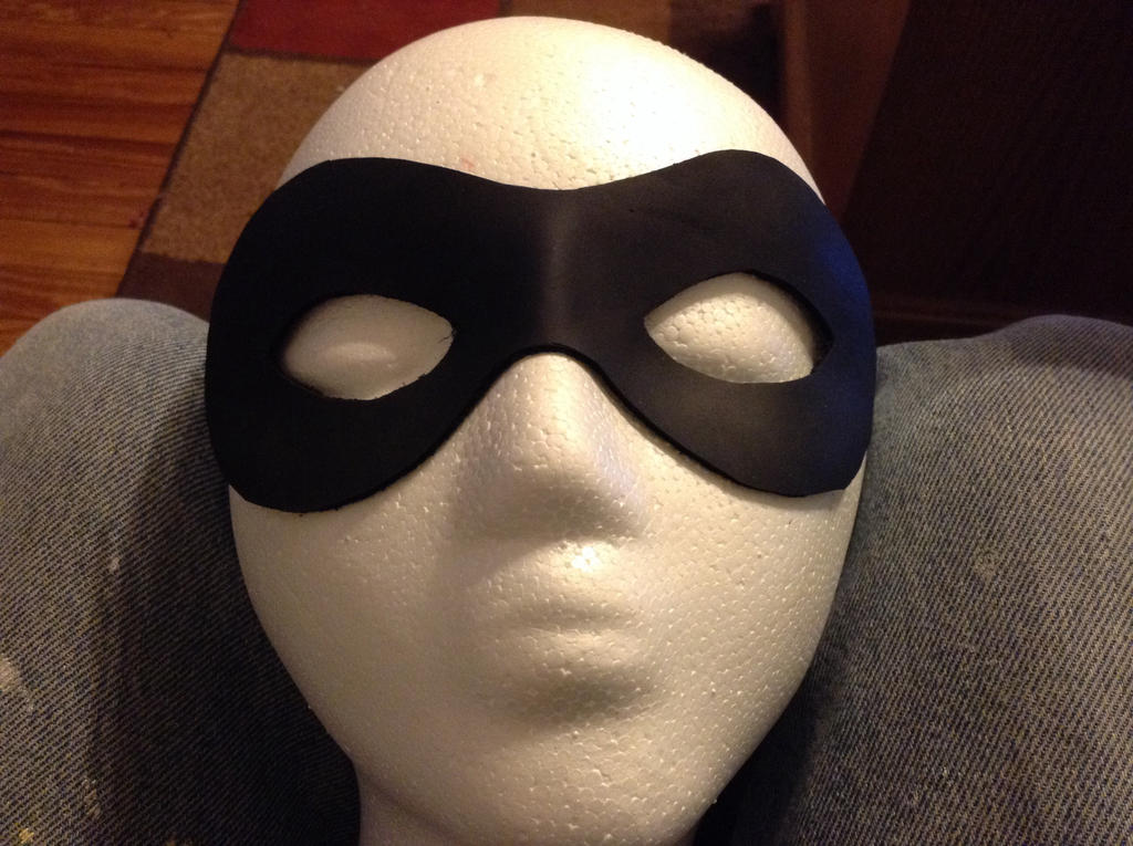Leather Harley Quinn mask by tk8247