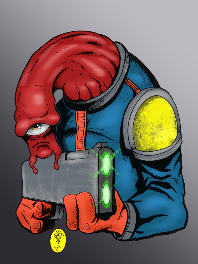 Slug Space Cop by JimGal77