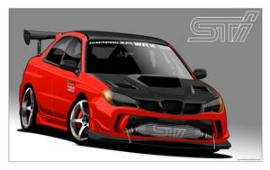 Custom Subaru Impreza by donbenni