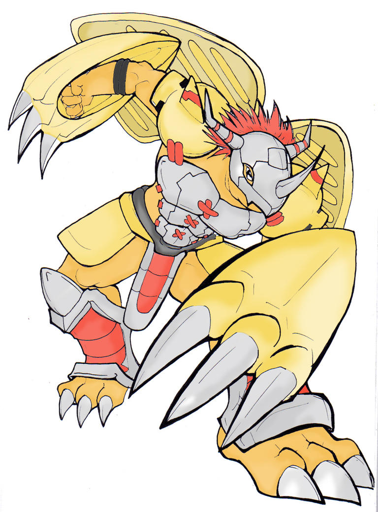 Wargreymon Colouring by zeromarusaur