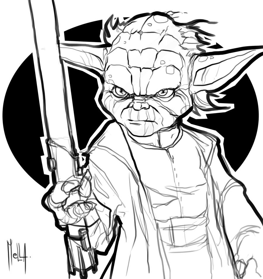 Master yoda by servatillo on deviantart for Yoda coloring pages