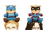 Steve bear and Bucky bear