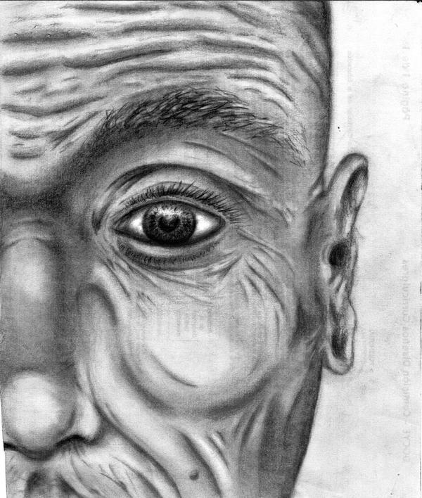 old mans face drawing - photo #8