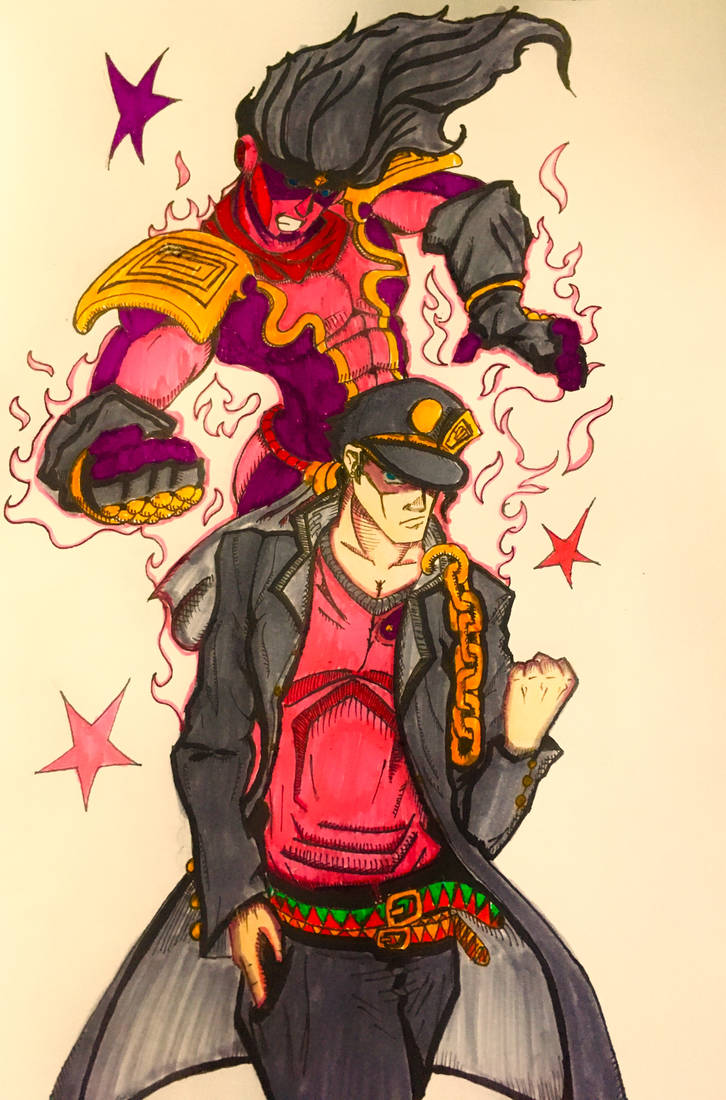 JoJo fanart - Jotaro Kujo by Saemonds on DeviantArt