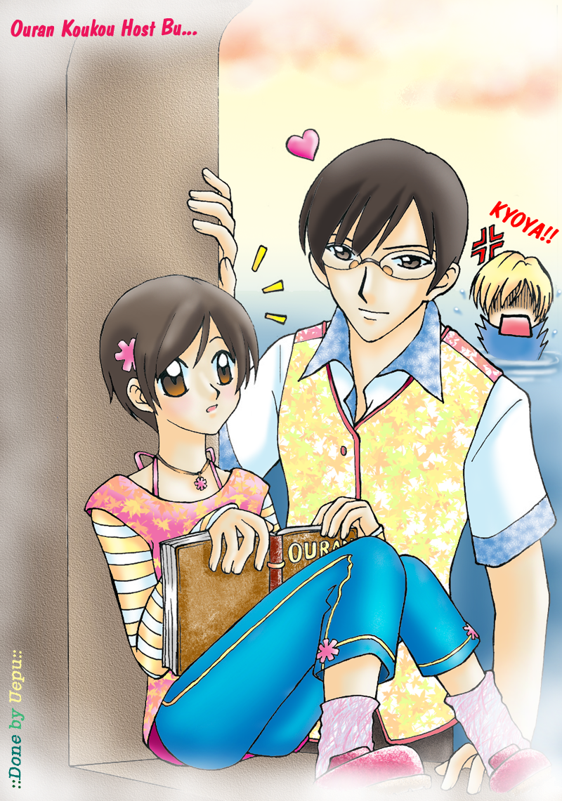 Haruhi and Kyoya by uepu on DeviantArt