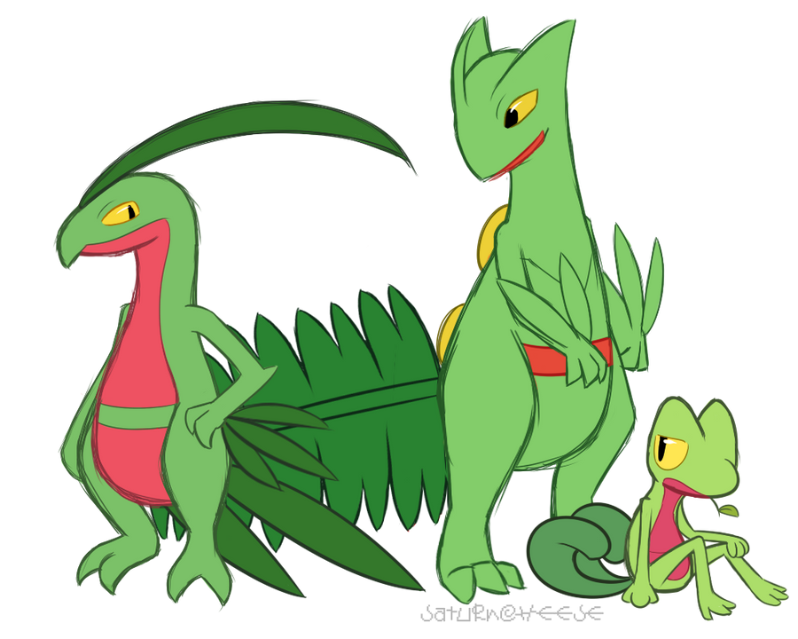 Pokemon Sceptile Evolu...