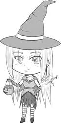 Witchy Blissy Chibi by ChellizardDraws