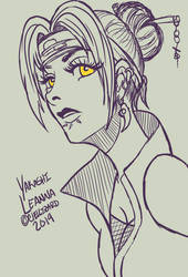 Yakashi Leanna by ChellizardDraws