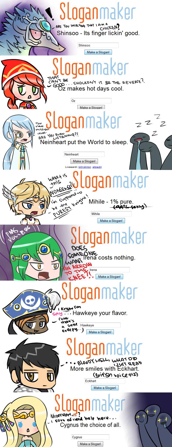 Maple Slogans 2 by SharkTuna