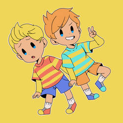 two HAPPY bois by smol-link