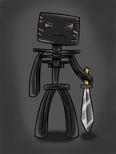 Wither Skeleton by ASHdrawings on DeviantArt  Minecraft Cute Skeleton