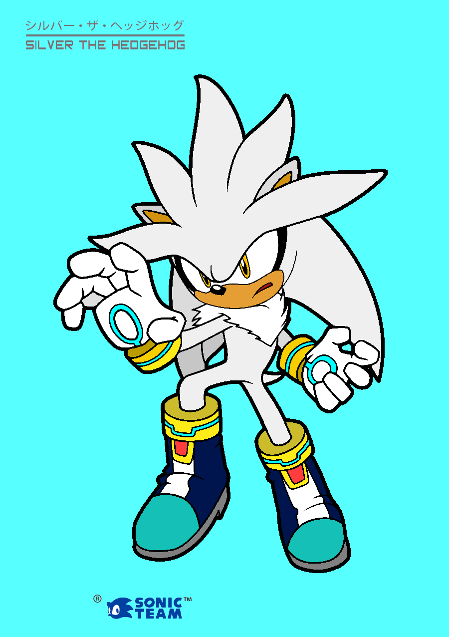 Silver Coloring Page Colored By Voltage Kun On Deviantart Silver The Hedgehog Coloring Pages