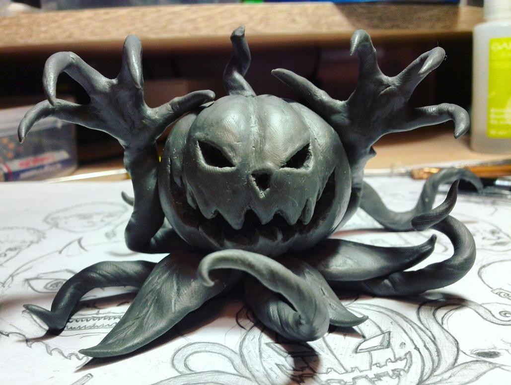 Halloween Pumpkin Sculpture by Raikeeen