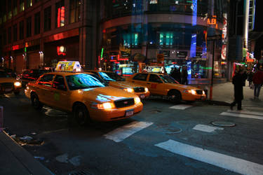 Yellow Cab. City Lights. by AutumnPhyre