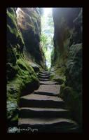 Hawkstone Stairway by AutumnPhyre