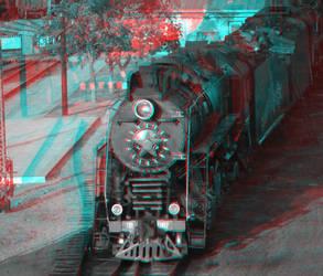 Anaglyph Steam Locomotive LV-0182 (test) by koori101