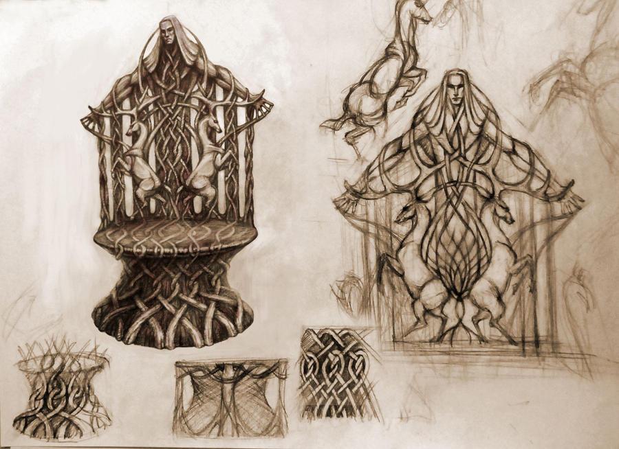 elvish throne by Sindacollo