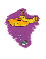 Floating with Yellow Submarine by SkyWookiee